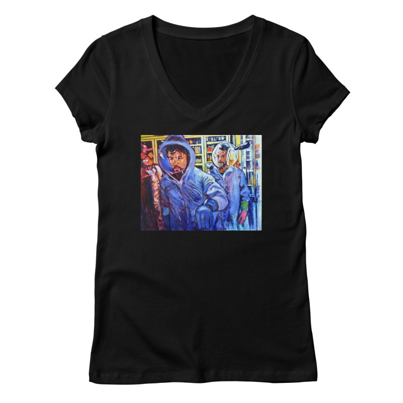 """breach Women's V-Neck by Art Prints by Seamus Wray available under """"Home"""""""