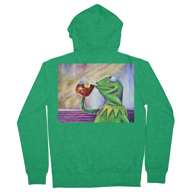 "tea Men's Zip-Up Hoody by Art Prints by Seamus Wray available under ""Home"""
