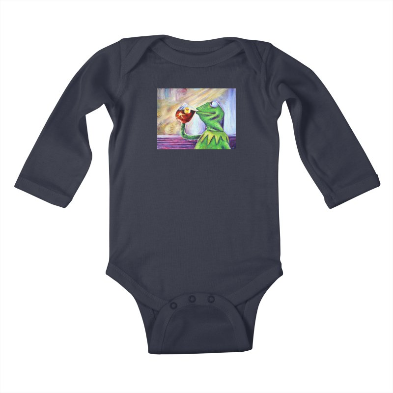 """tea Kids Baby Longsleeve Bodysuit by Art Prints by Seamus Wray available under """"Home"""""""