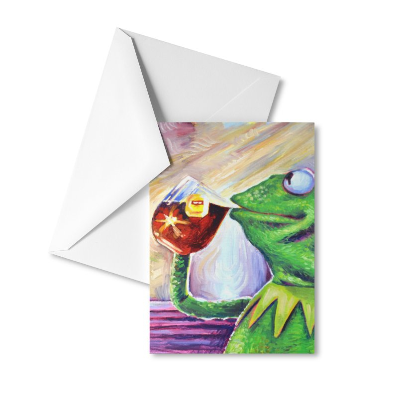 """tea Accessories Greeting Card by Art Prints by Seamus Wray available under """"Home"""""""