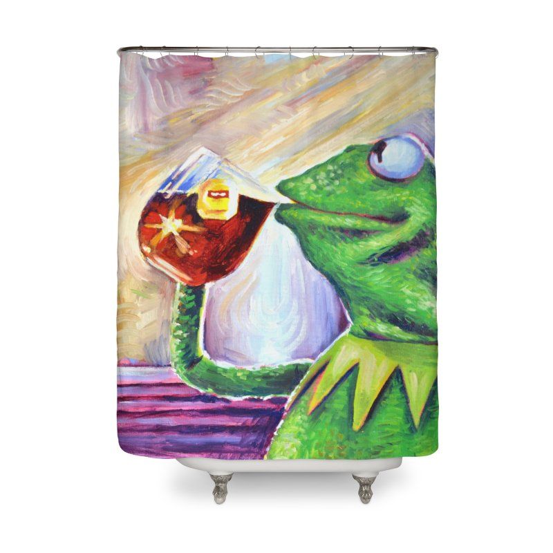 """tea Home Shower Curtain by Art Prints by Seamus Wray available under """"Home"""""""