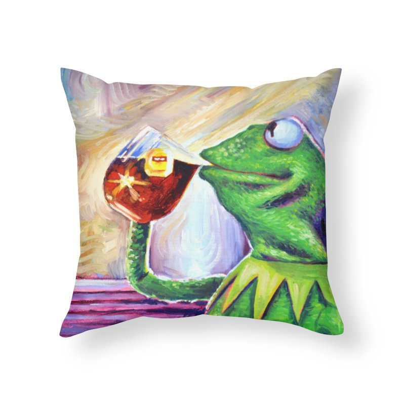"""tea Home Throw Pillow by Art Prints by Seamus Wray available under """"Home"""""""