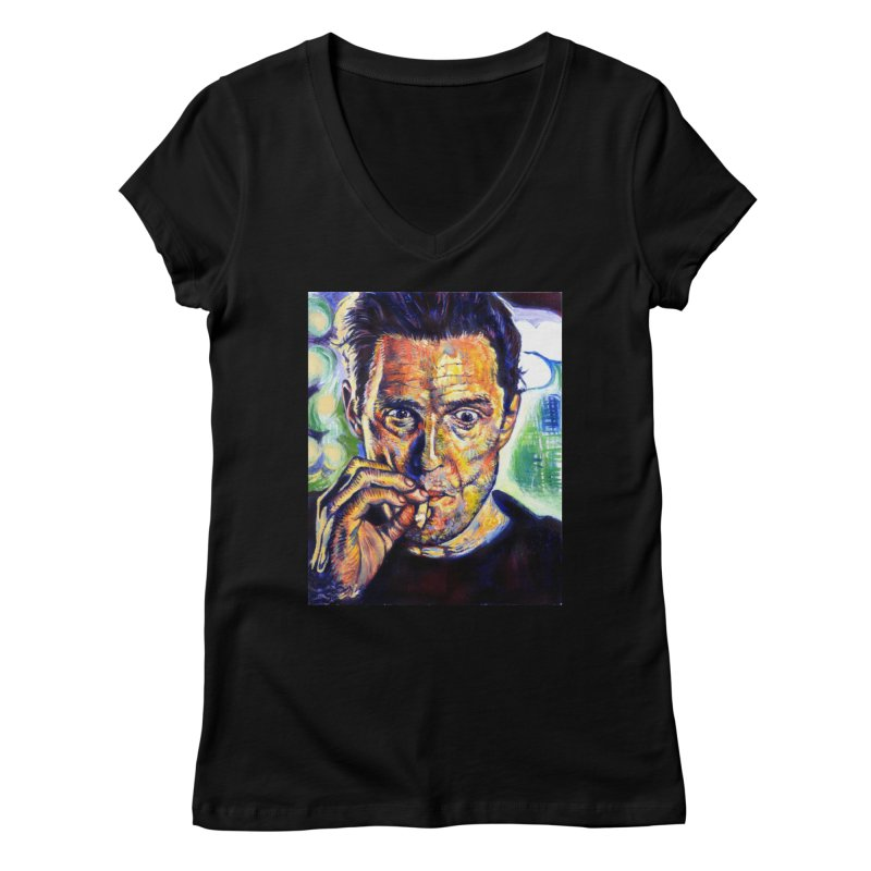 """smokin Women's V-Neck by Art Prints by Seamus Wray available under """"Home"""""""