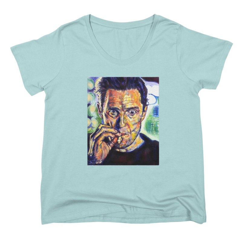 """smokin Women's Scoop Neck by Art Prints by Seamus Wray available under """"Home"""""""