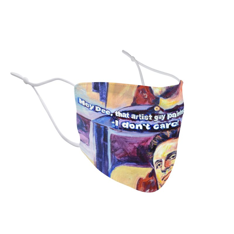 """I dont care Accessories Face Mask by Art Prints by Seamus Wray available under """"Home"""""""