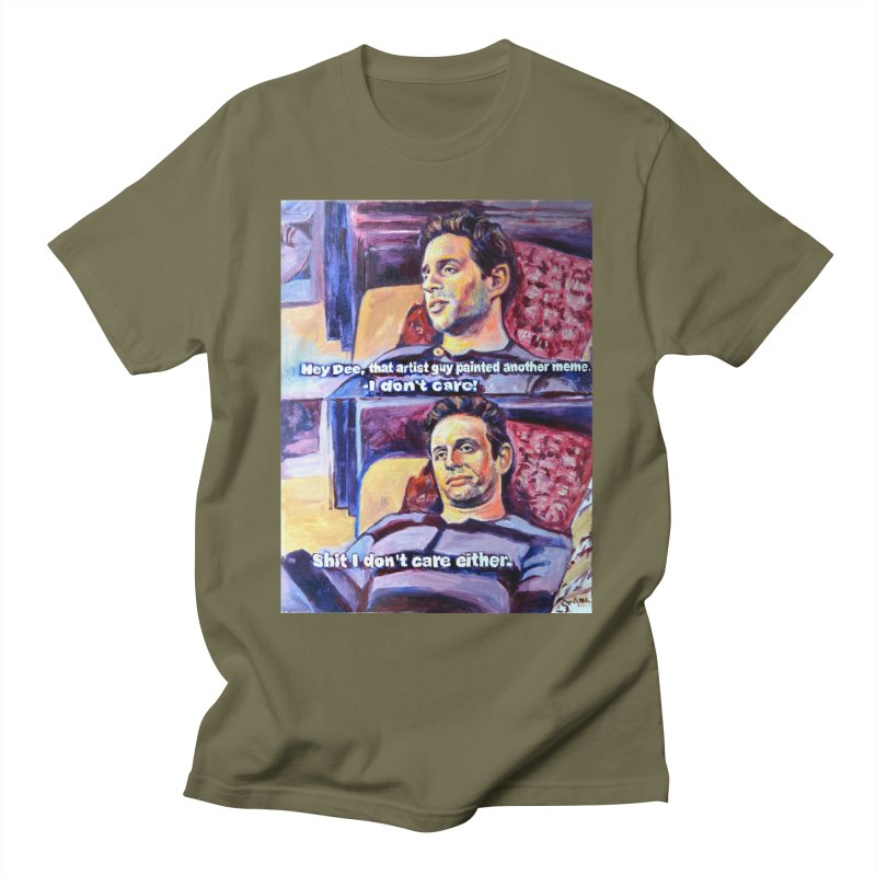 """I dont care Men's T-Shirt by Art Prints by Seamus Wray available under """"Home"""""""