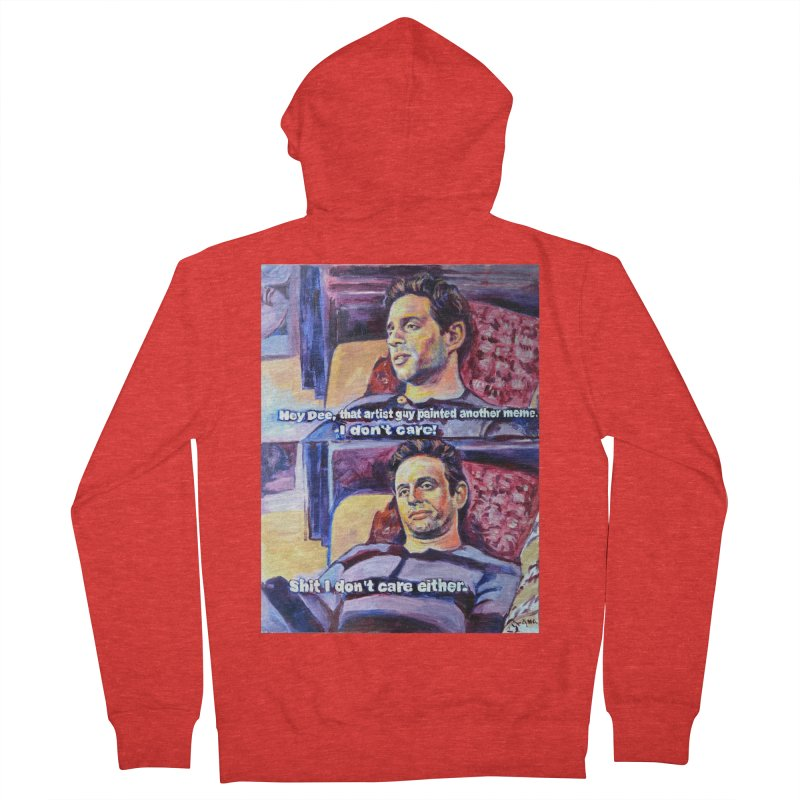 """I dont care Women's Zip-Up Hoody by Art Prints by Seamus Wray available under """"Home"""""""