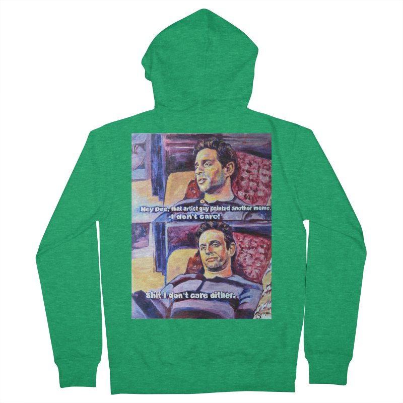"""I dont care Men's Zip-Up Hoody by Art Prints by Seamus Wray available under """"Home"""""""
