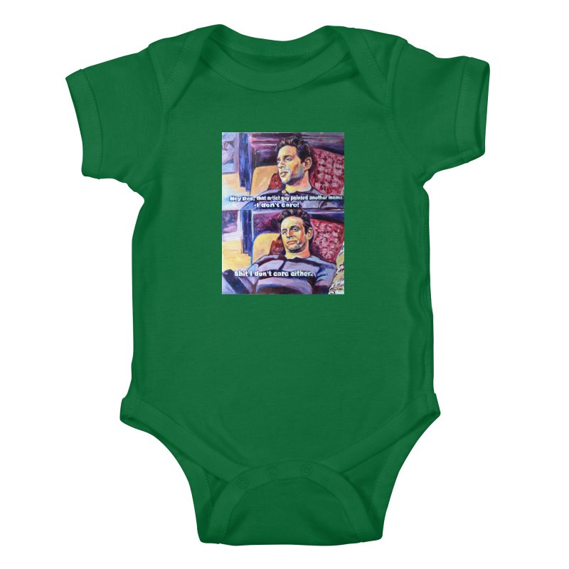 """I dont care Kids Baby Bodysuit by Art Prints by Seamus Wray available under """"Home"""""""