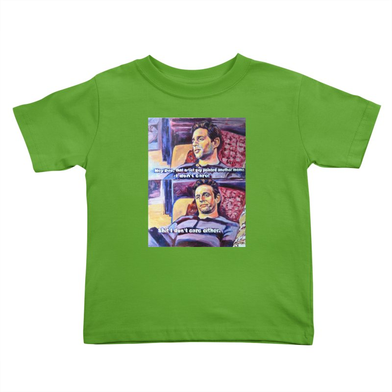 """I dont care Kids Toddler T-Shirt by Art Prints by Seamus Wray available under """"Home"""""""