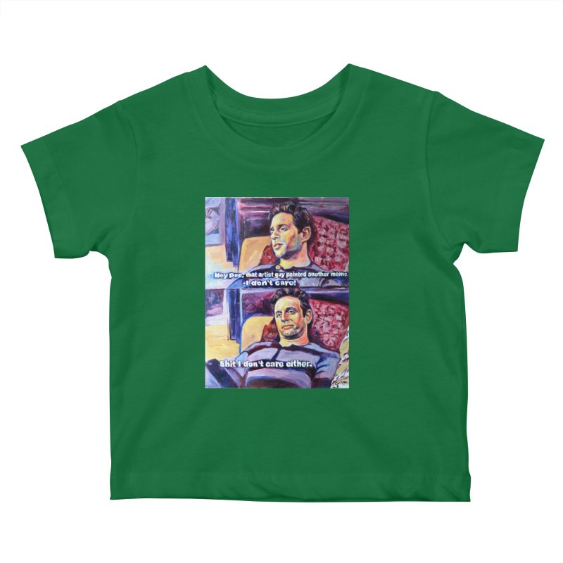 """I dont care Kids Baby T-Shirt by Art Prints by Seamus Wray available under """"Home"""""""