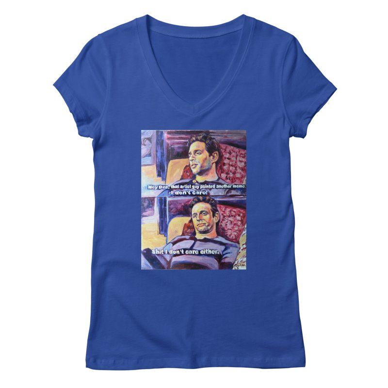 """I dont care Women's V-Neck by Art Prints by Seamus Wray available under """"Home"""""""