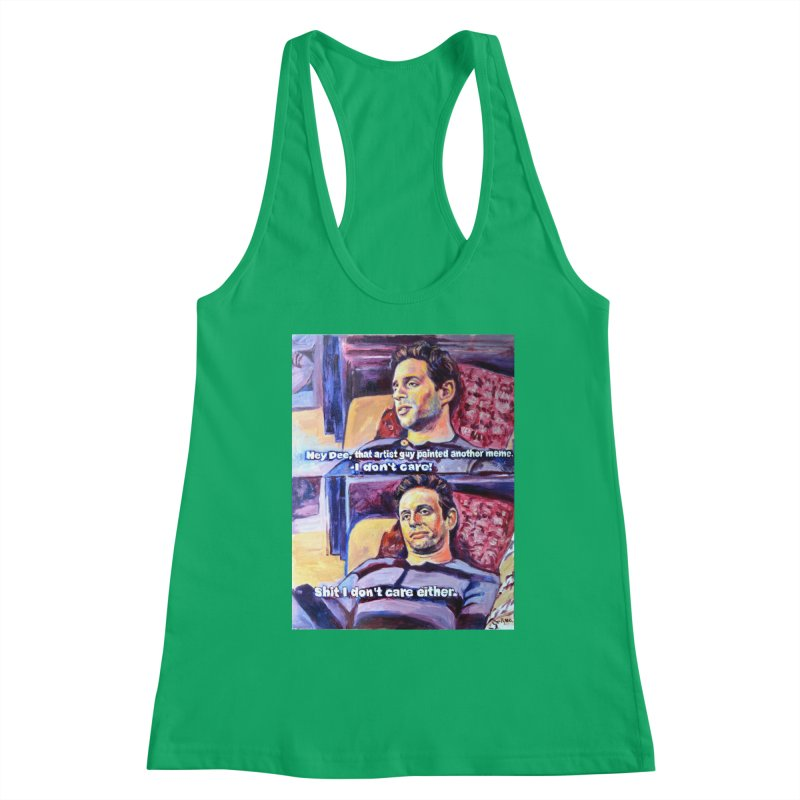 """I dont care Women's Tank by Art Prints by Seamus Wray available under """"Home"""""""