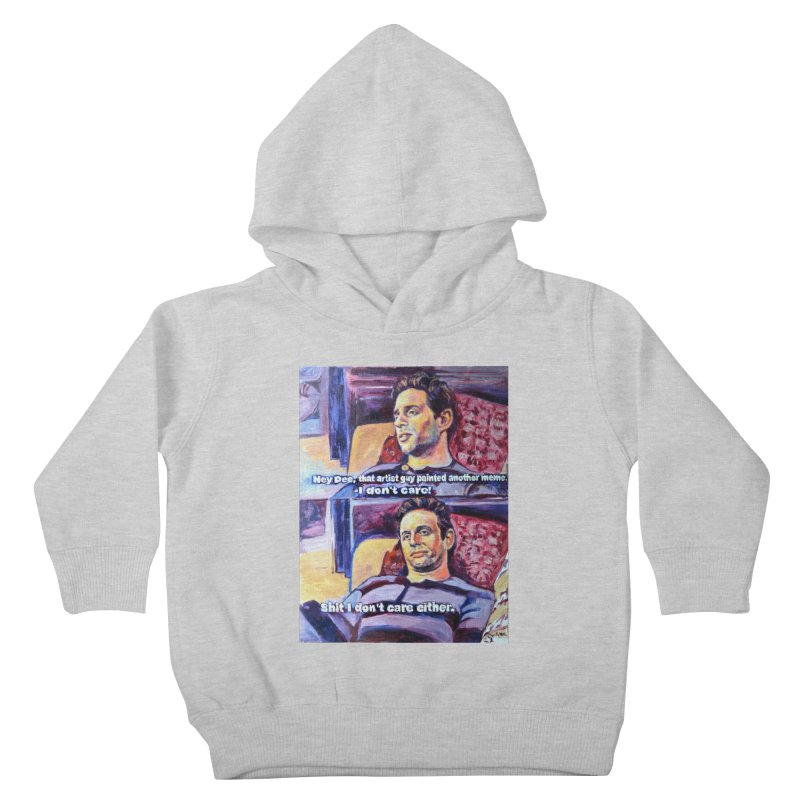 """I dont care Kids Toddler Pullover Hoody by Art Prints by Seamus Wray available under """"Home"""""""