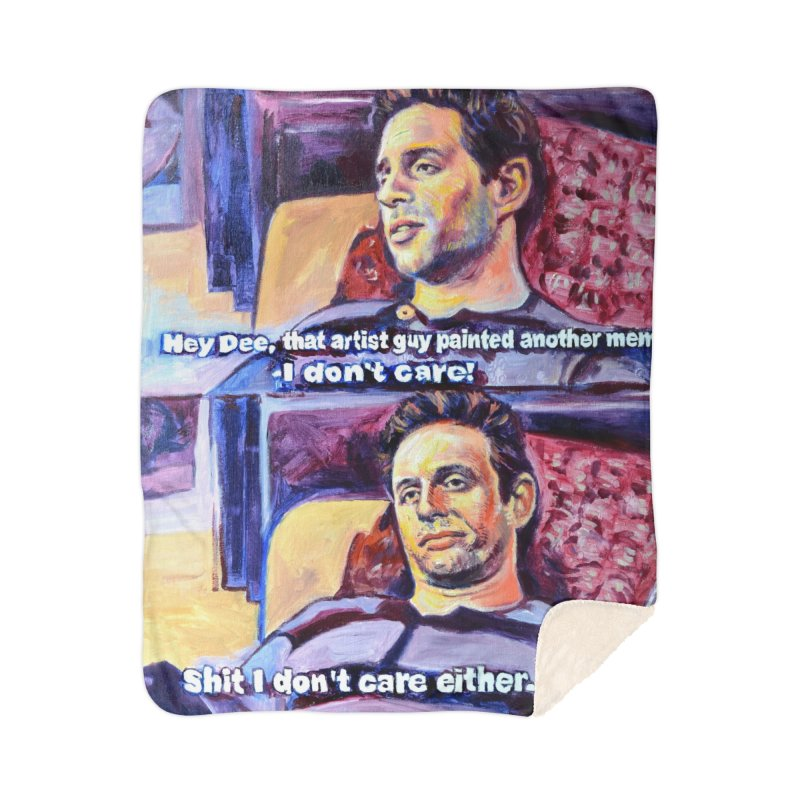 """I dont care Home Blanket by Art Prints by Seamus Wray available under """"Home"""""""