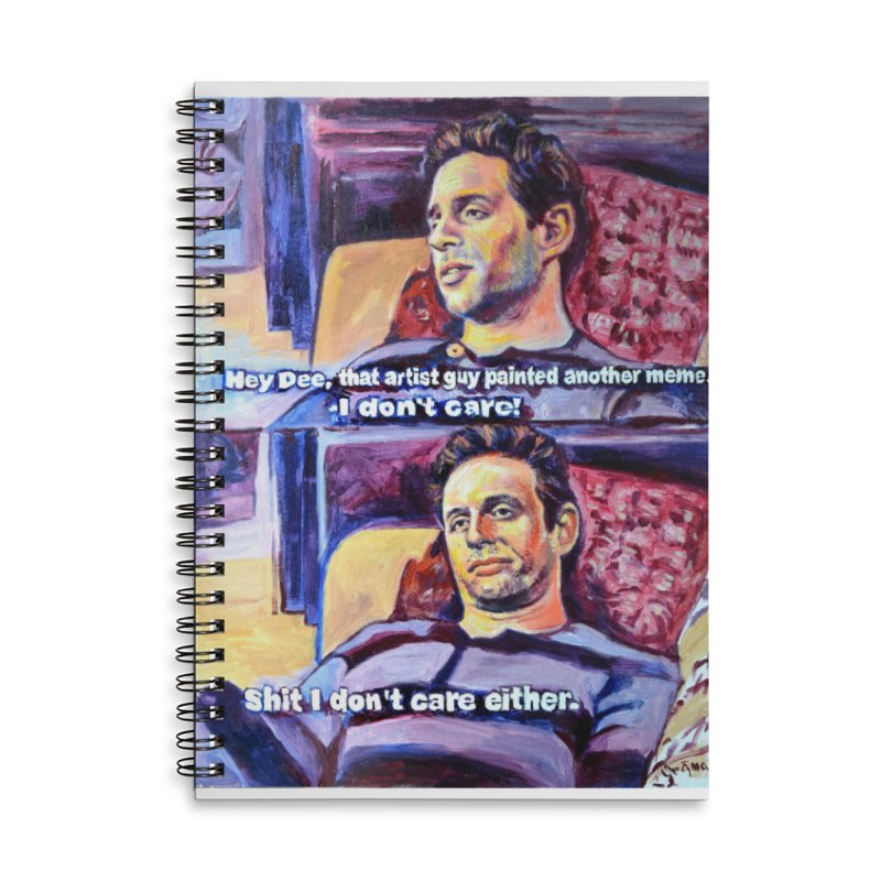 """I dont care Accessories Notebook by Art Prints by Seamus Wray available under """"Home"""""""