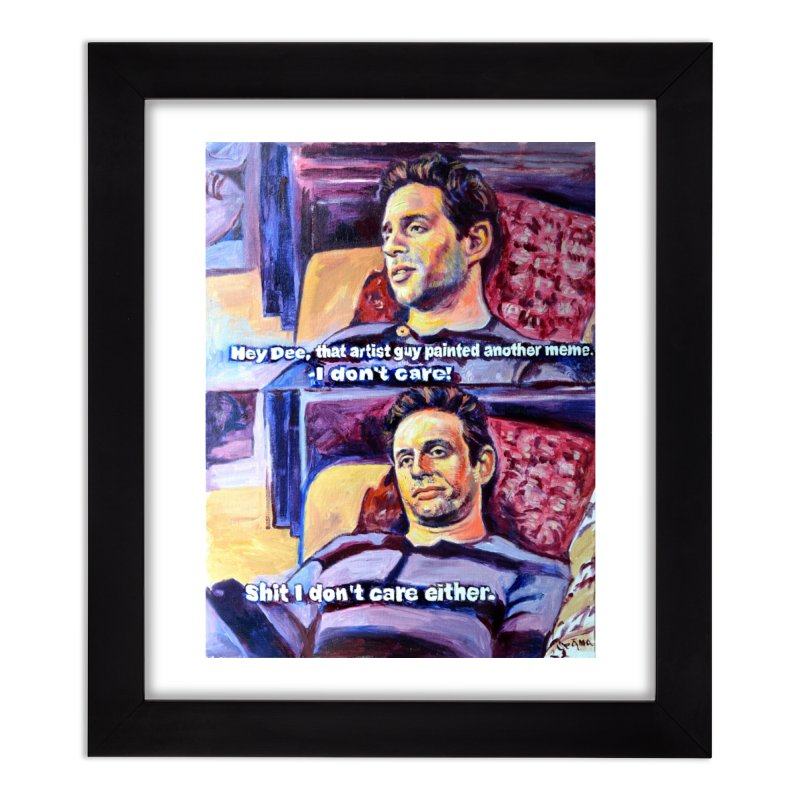 """I dont care Home Framed Fine Art Print by Art Prints by Seamus Wray available under """"Home"""""""