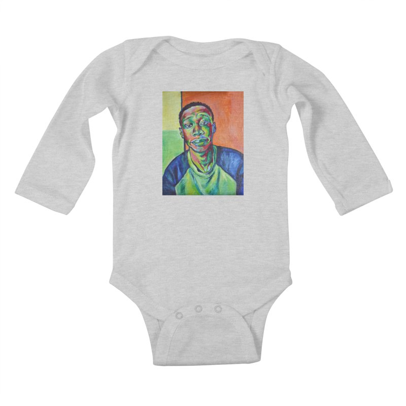 """khaby Kids Baby Longsleeve Bodysuit by Art Prints by Seamus Wray available under """"Home"""""""