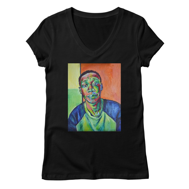 """khaby Women's V-Neck by Art Prints by Seamus Wray available under """"Home"""""""