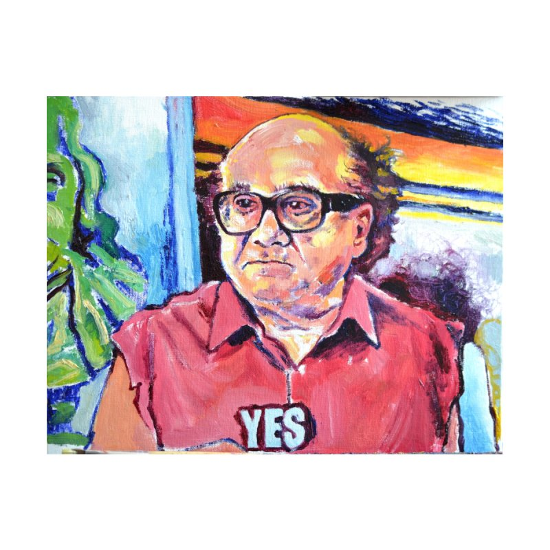 """yes Men's T-Shirt by Art Prints by Seamus Wray available under """"Home"""""""