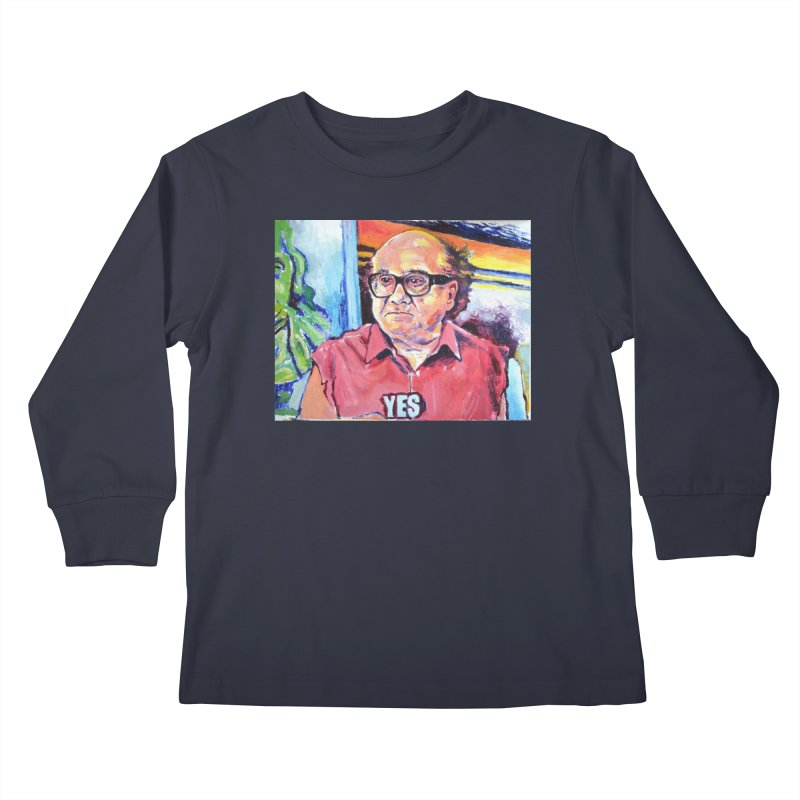 """yes Kids Longsleeve T-Shirt by Art Prints by Seamus Wray available under """"Home"""""""