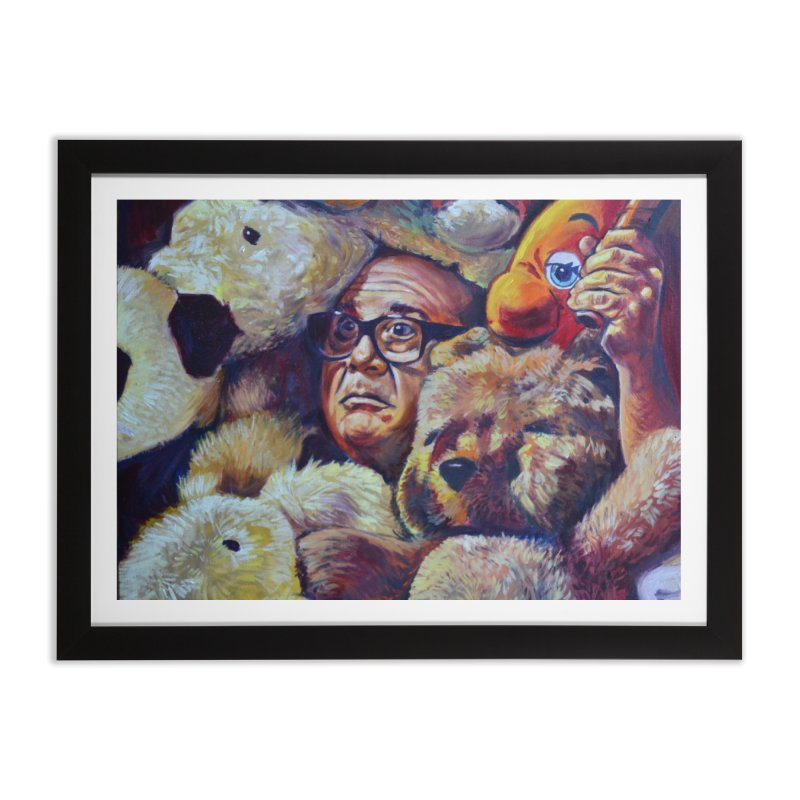 """Stuffed Animals Home Framed Fine Art Print by Art Prints by Seamus Wray available under """"Home"""""""