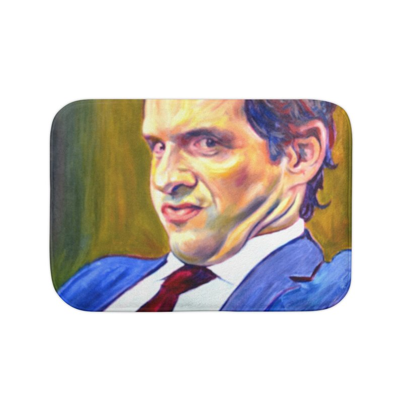 """A guy that totally got off Home Bath Mat by Art Prints by Seamus Wray available under """"Home"""""""