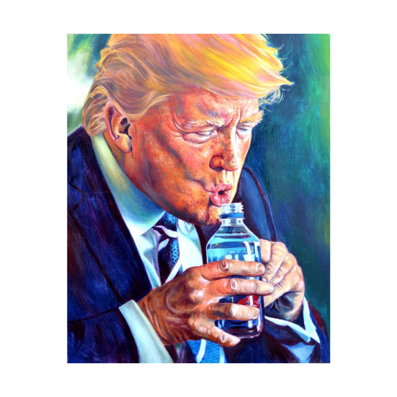 Drinking Trump by paintings by Seamus Wray