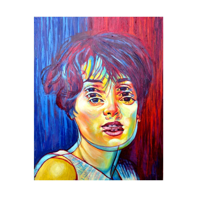 Winona Reyeder by paintings by Seamus Wray