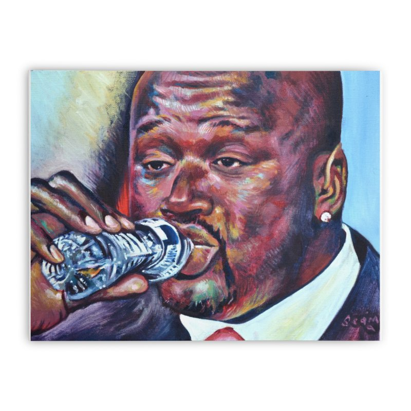 """Shaq Water Home Stretched Canvas by Art Prints by Seamus Wray available under """"Home"""""""