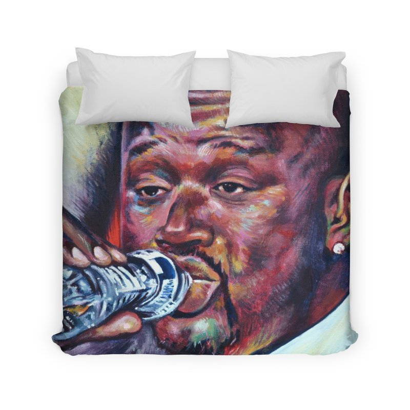"""Shaq Water Home Duvet by Art Prints by Seamus Wray available under """"Home"""""""