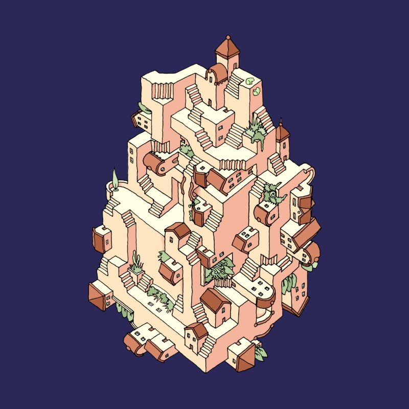 Tower Maze Kids T-Shirt by Sean C Jackson