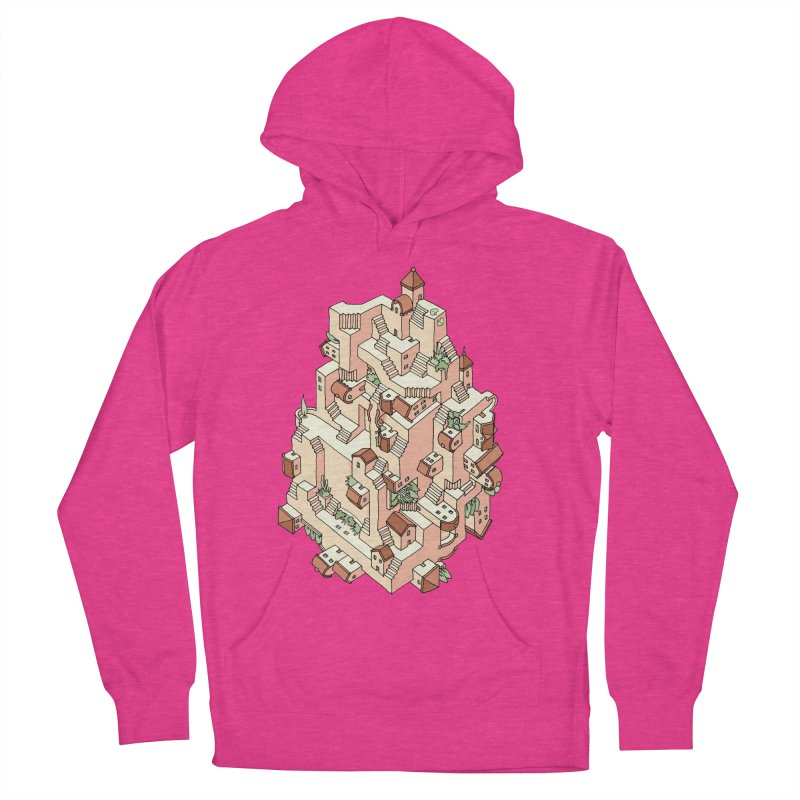 Tower Maze Women's French Terry Pullover Hoody by Sean C Jackson