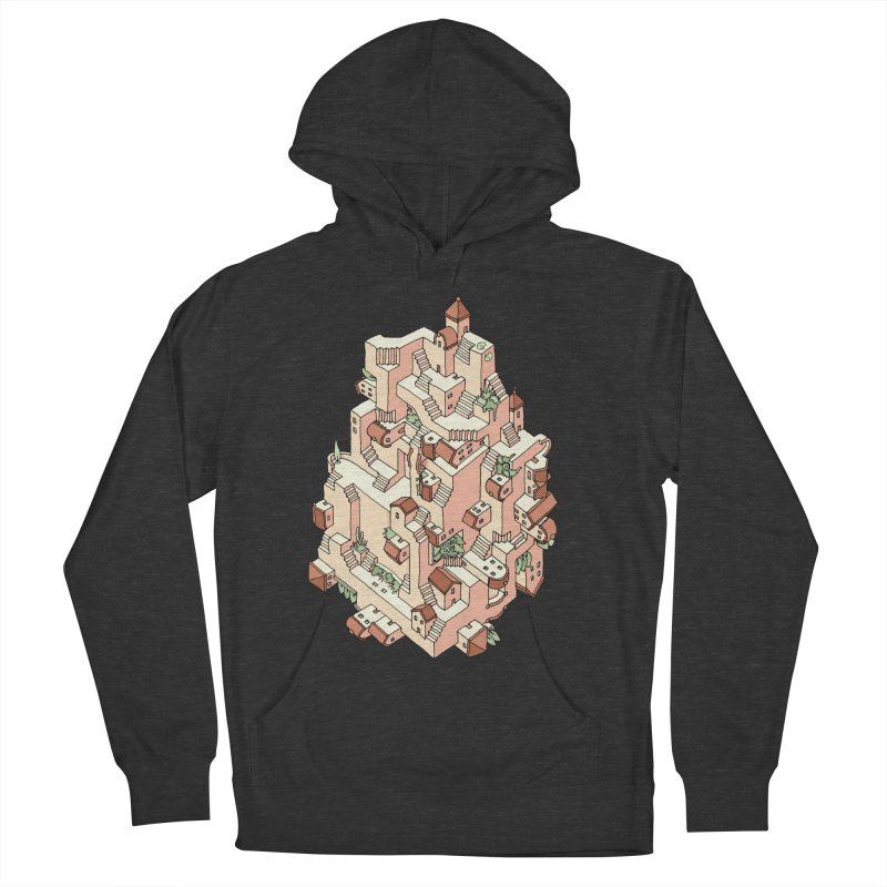 Tower Maze Men's French Terry Pullover Hoody by Sean C Jackson