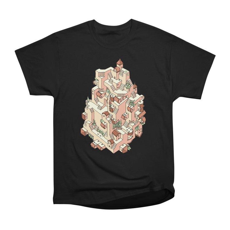 Tower Maze Men's Heavyweight T-Shirt by Sean C Jackson