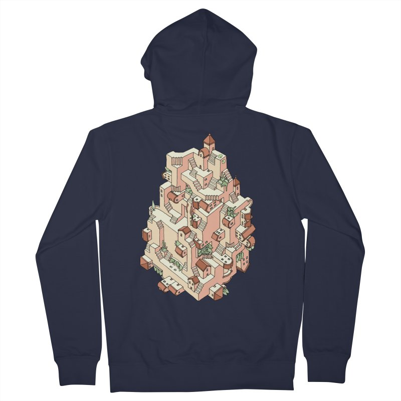 Tower Maze Men's French Terry Zip-Up Hoody by Sean C Jackson