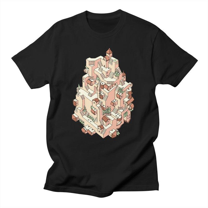 Tower Maze Men's Regular T-Shirt by Sean C Jackson