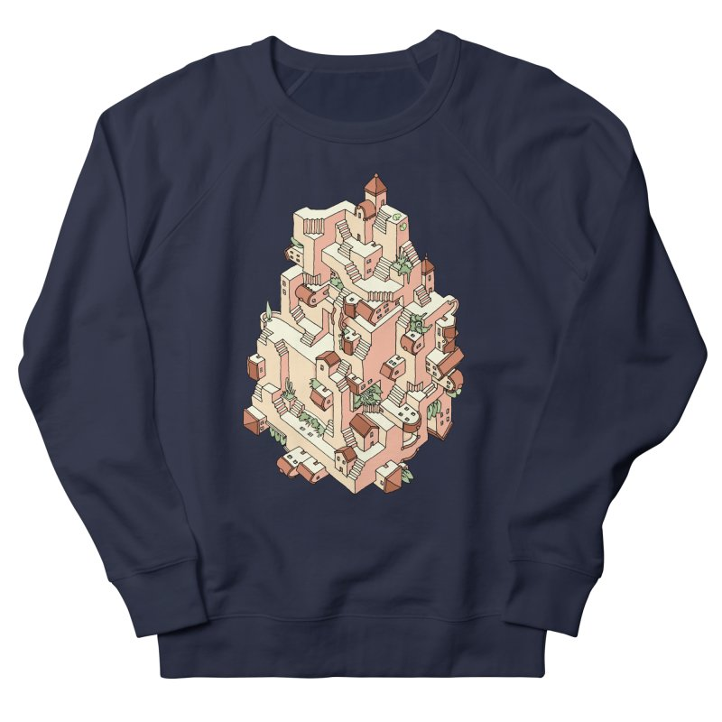 Tower Maze Men's French Terry Sweatshirt by Sean C Jackson