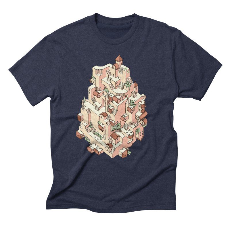 Tower Maze Men's T-Shirt by Sean C Jackson