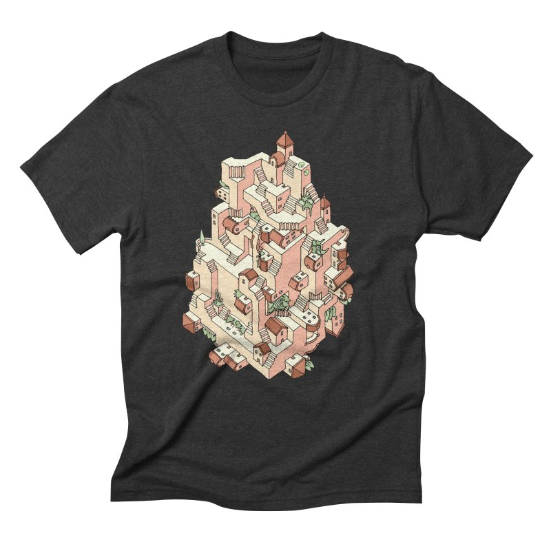 Tower Maze Men's Triblend T-Shirt by Sean C Jackson