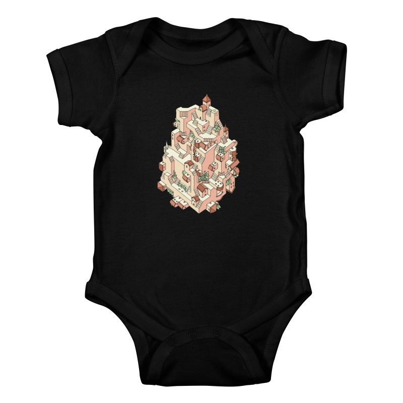 Tower Maze Kids Baby Bodysuit by Sean C Jackson
