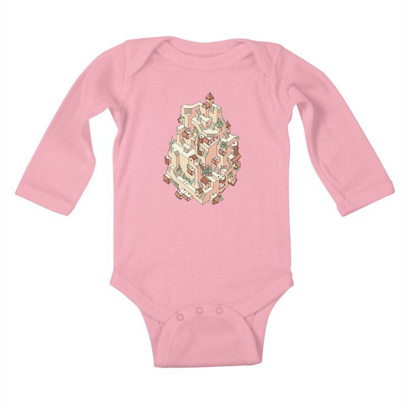 Tower Maze Kids Baby Longsleeve Bodysuit by Sean C Jackson