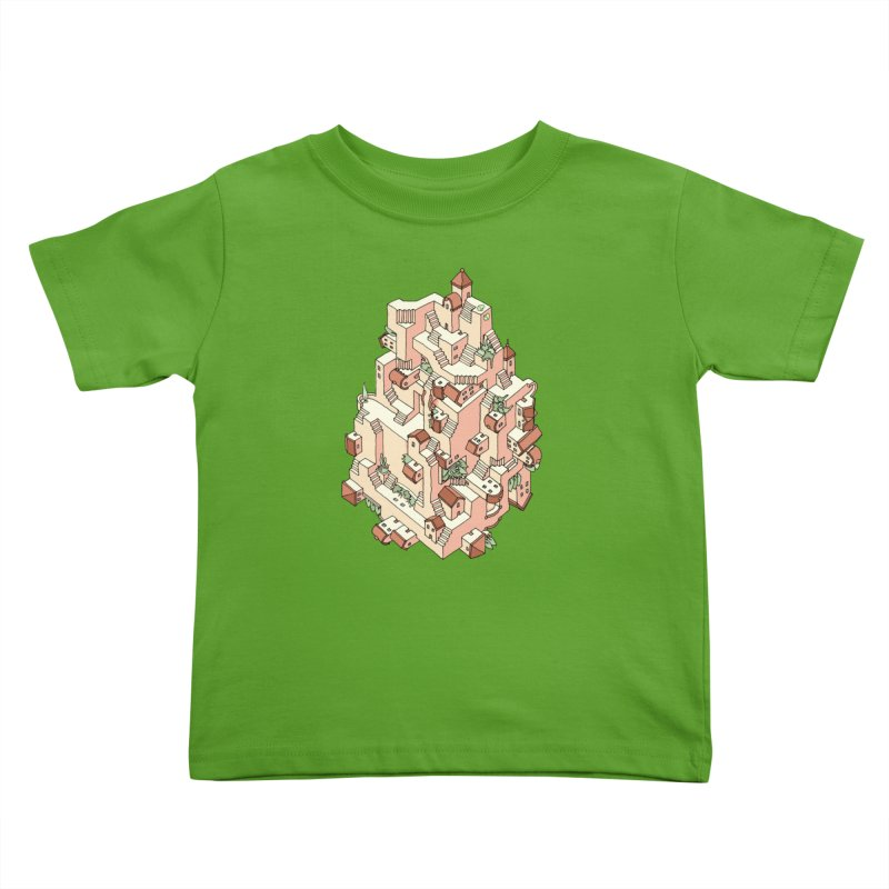 Tower Maze Kids Toddler T-Shirt by Sean C Jackson