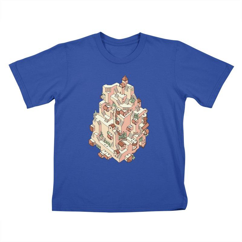 Tower Maze Kids T-Shirt by Sean C Jackson
