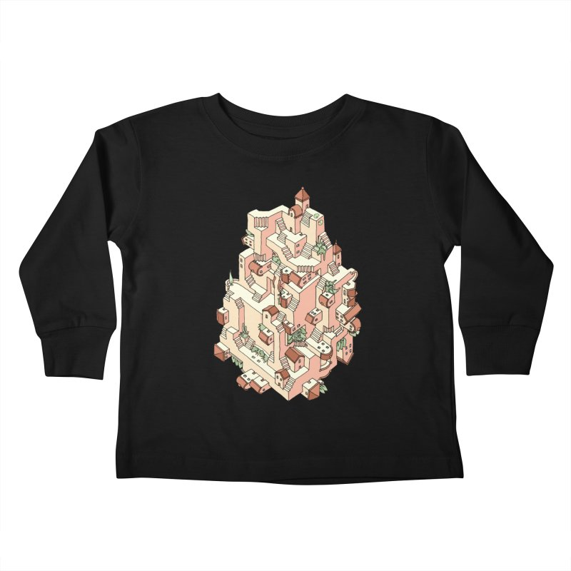 Tower Maze Kids Toddler Longsleeve T-Shirt by Sean C Jackson