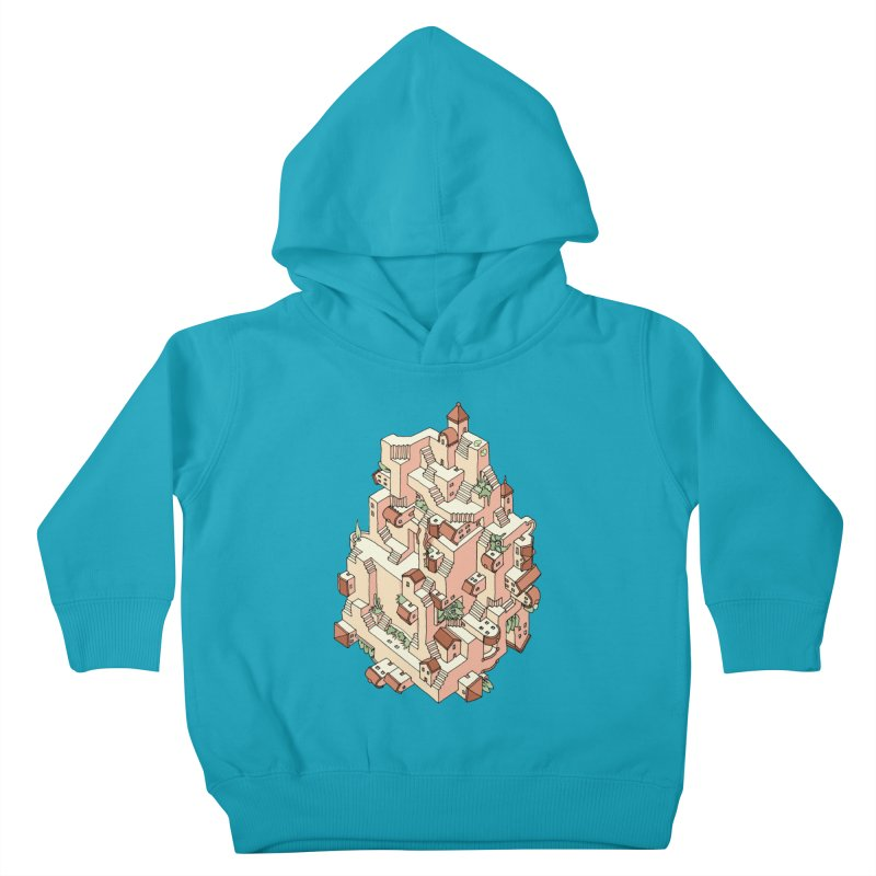 Tower Maze Kids Toddler Pullover Hoody by Sean C Jackson