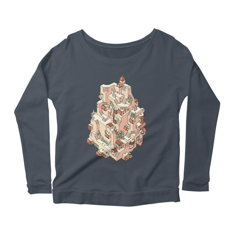 Tower Maze Women's Scoop Neck Longsleeve T-Shirt by Sean C Jackson