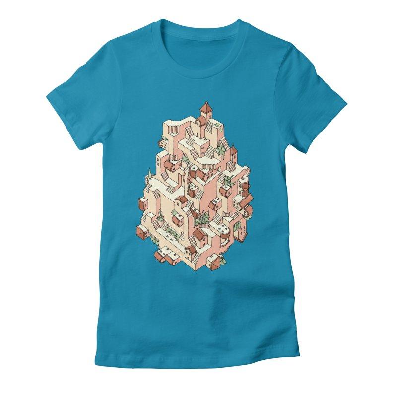 Tower Maze Women's T-Shirt by Sean C Jackson