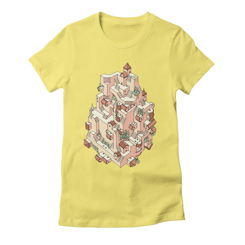 Tower Maze Women's T-Shirt by Sean C Jackson