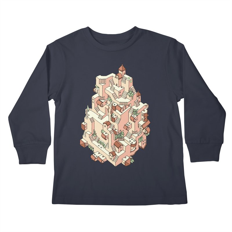 Tower Maze Kids Longsleeve T-Shirt by Sean C Jackson